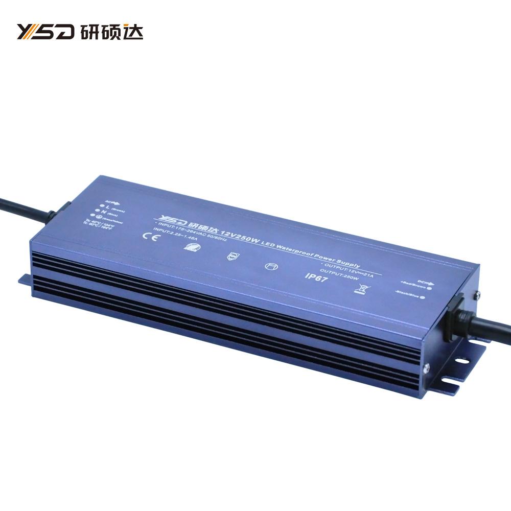 250W 12V/24V waterproof LED power supply/YSD