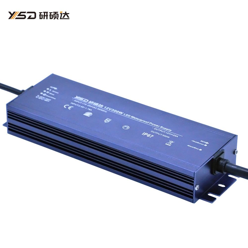 300W 12V/24V waterproof LED power supply/YSD