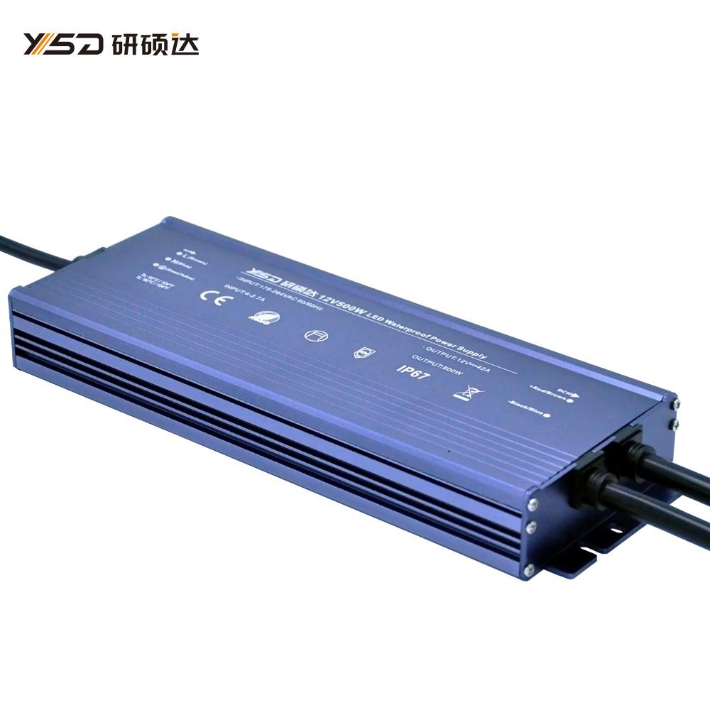 500W 12V/24V waterproof LED power supply/YSD