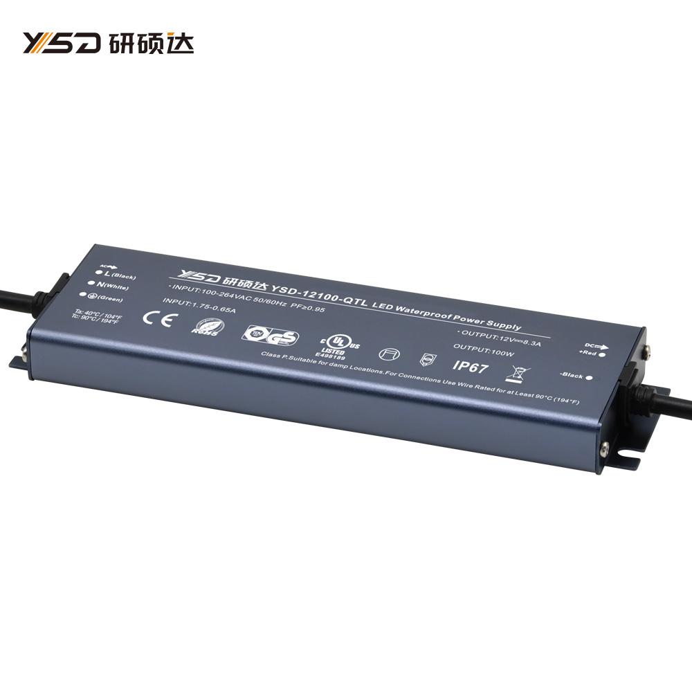 100W 12V/24V CV ultra-thin waterproof LED power supply YSD