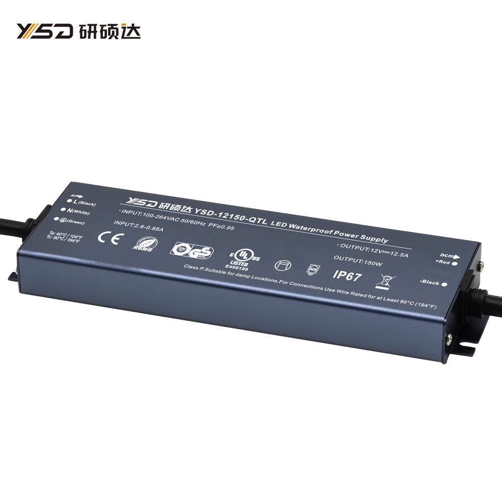 150W 12V/24V CV ultra-thin waterproof LED power supply YSD