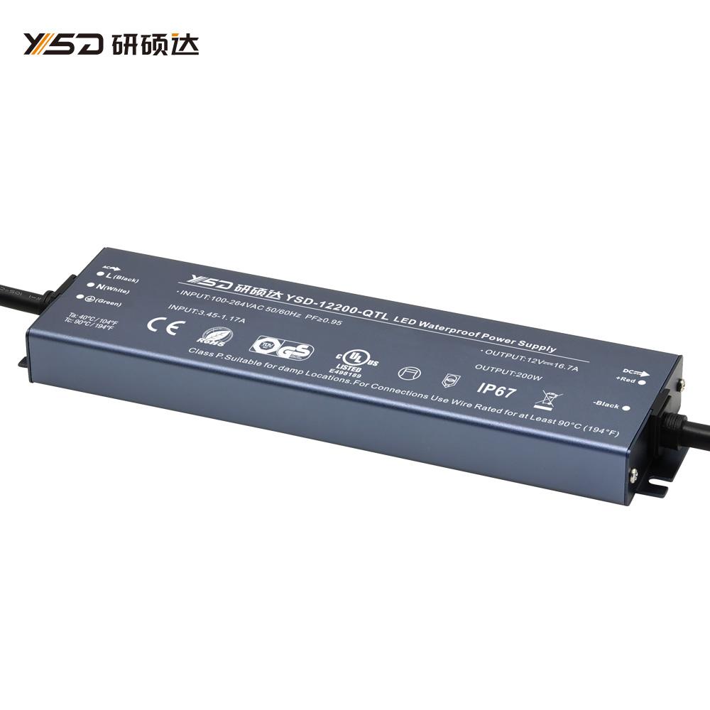 200W 12V/24V CV ultra-thin waterproof LED power supply YSD