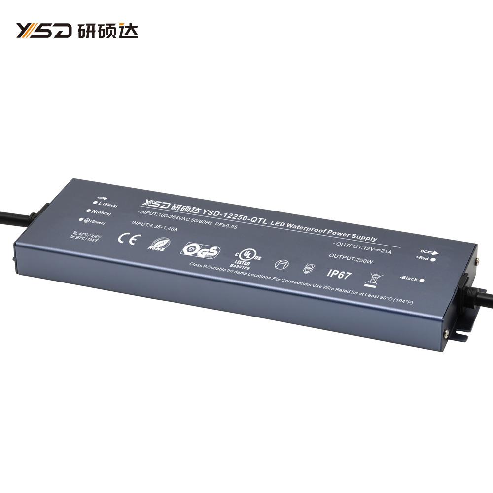 250W 12V/24V CV ultra-thin waterproof LED power supply YSD