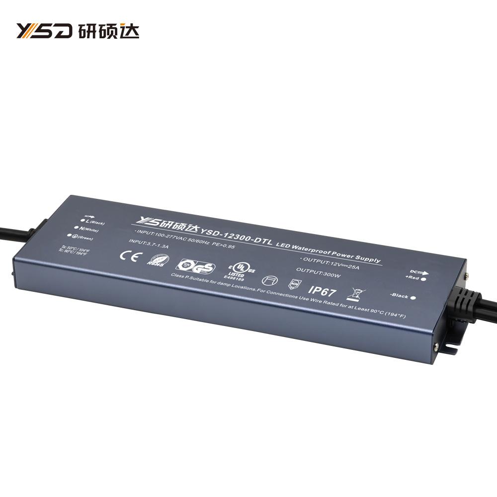 300W 12V/24V CV ultra-thin waterproof LED power supply YSD