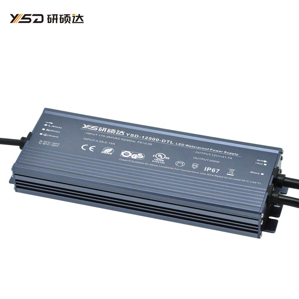 500W 12V/24V CV ultra-thin waterproof LED power supply YSD