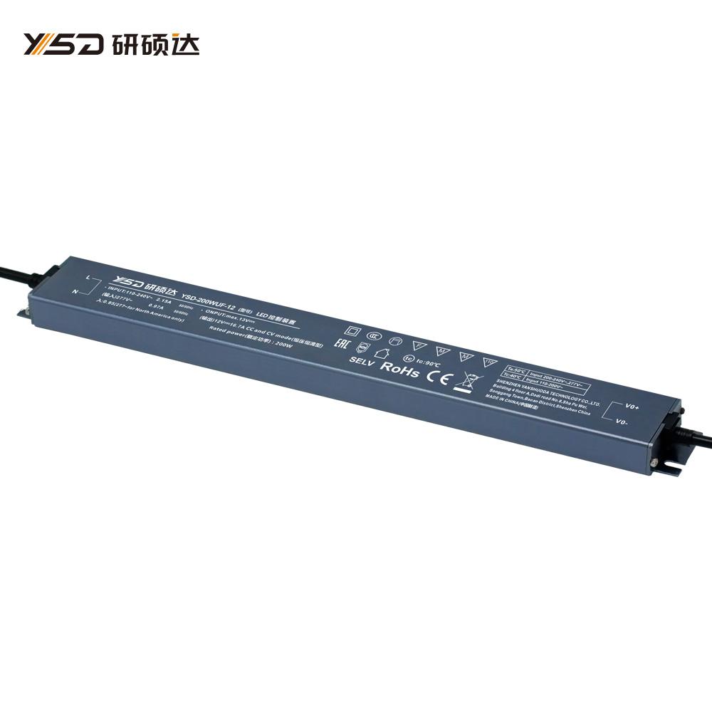 200W 12V/24V CV Linear waterproof LED power supply YSD