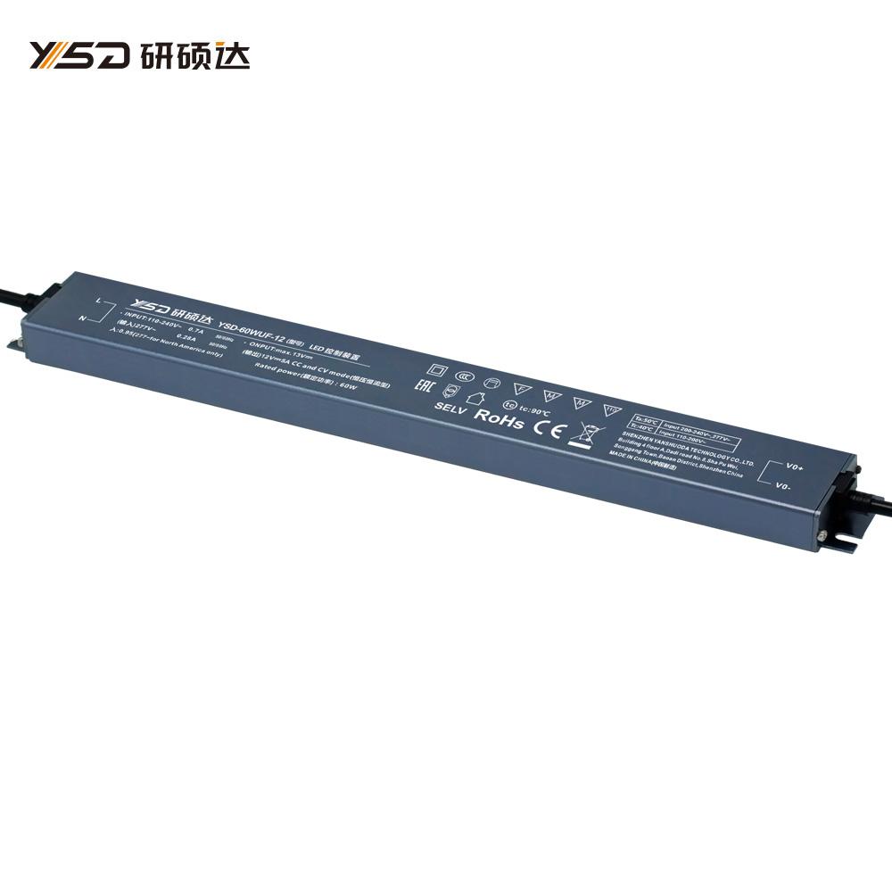 60W 12V/24V CV Linear waterproof LED power supply YSD