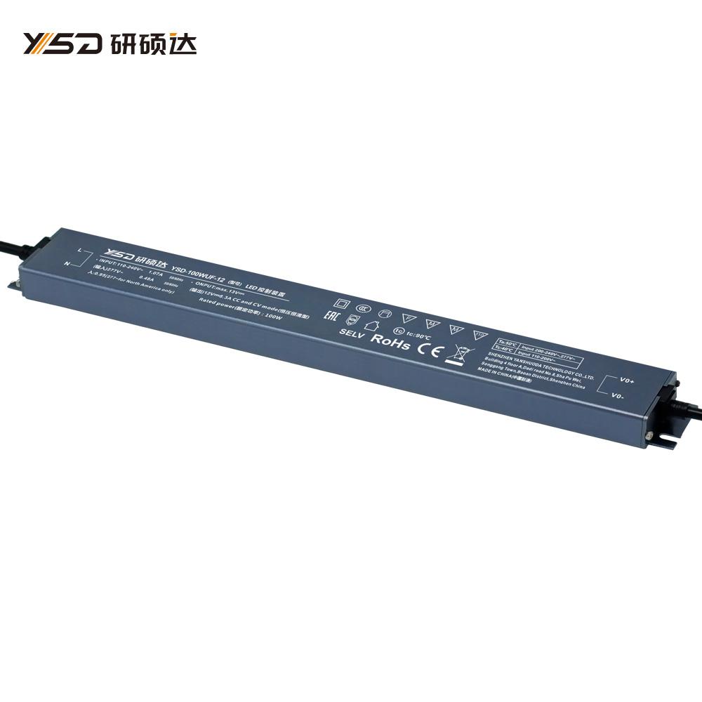 100W 12V/24V CV Linear waterproof LED power supply YSD