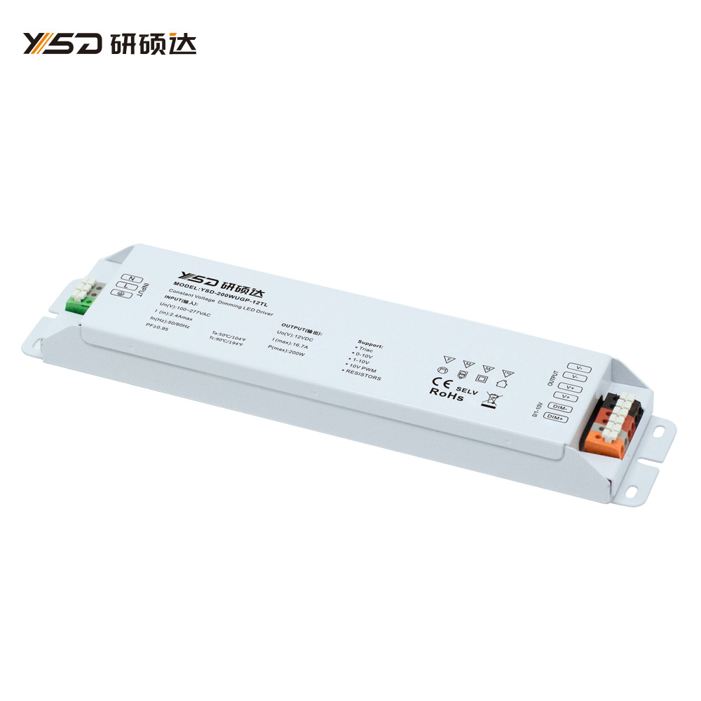 200W 12V/24V CV high-end dimmable switch LED power supply