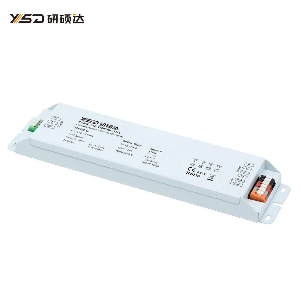 250W 12V/24V CV high-end dimmable switch LED power supply