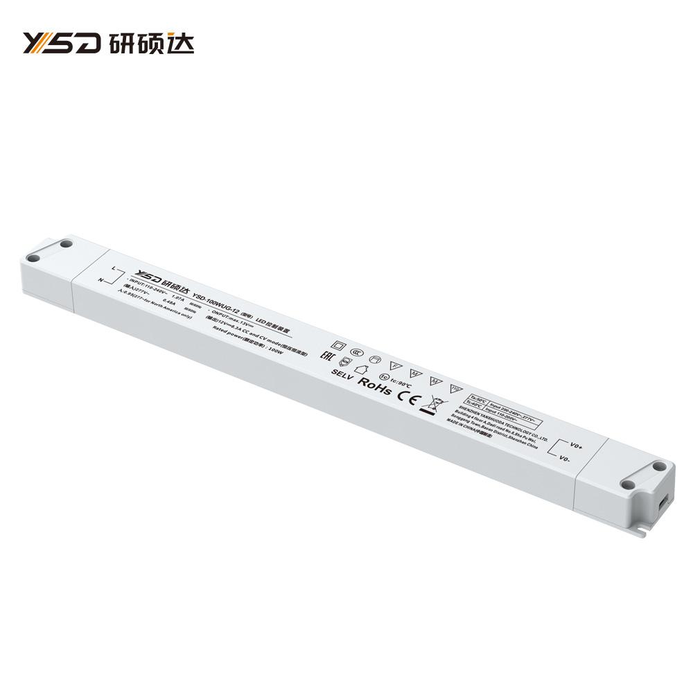 100W 12V/24V CV semi filled glue linear LED power supply
