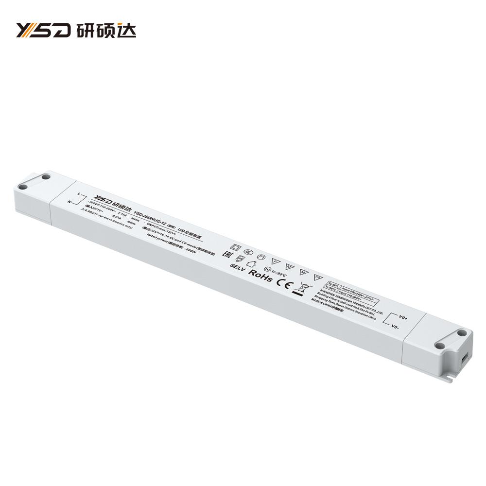 200W 12V/24V CV semi filled glue linear LED power supply