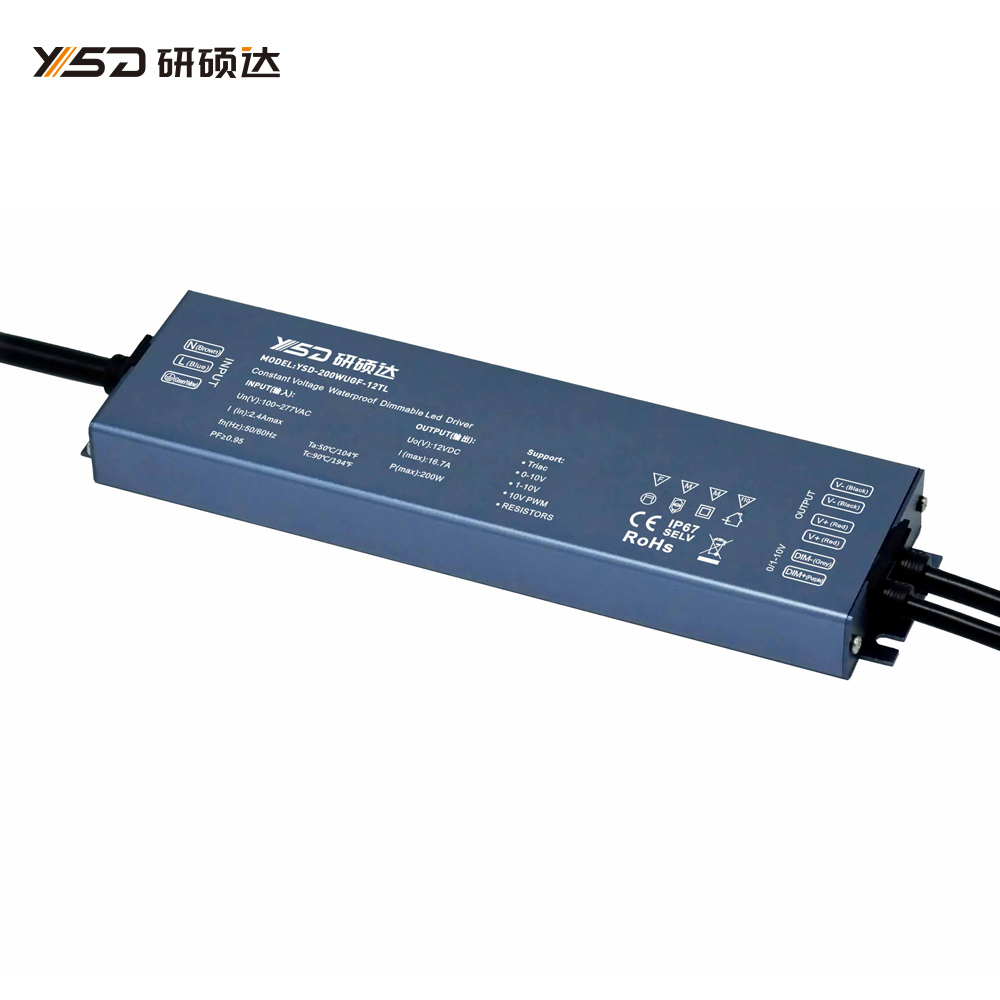 200W 12V/24V CV High-end Dimmable Waterproof LED power supply