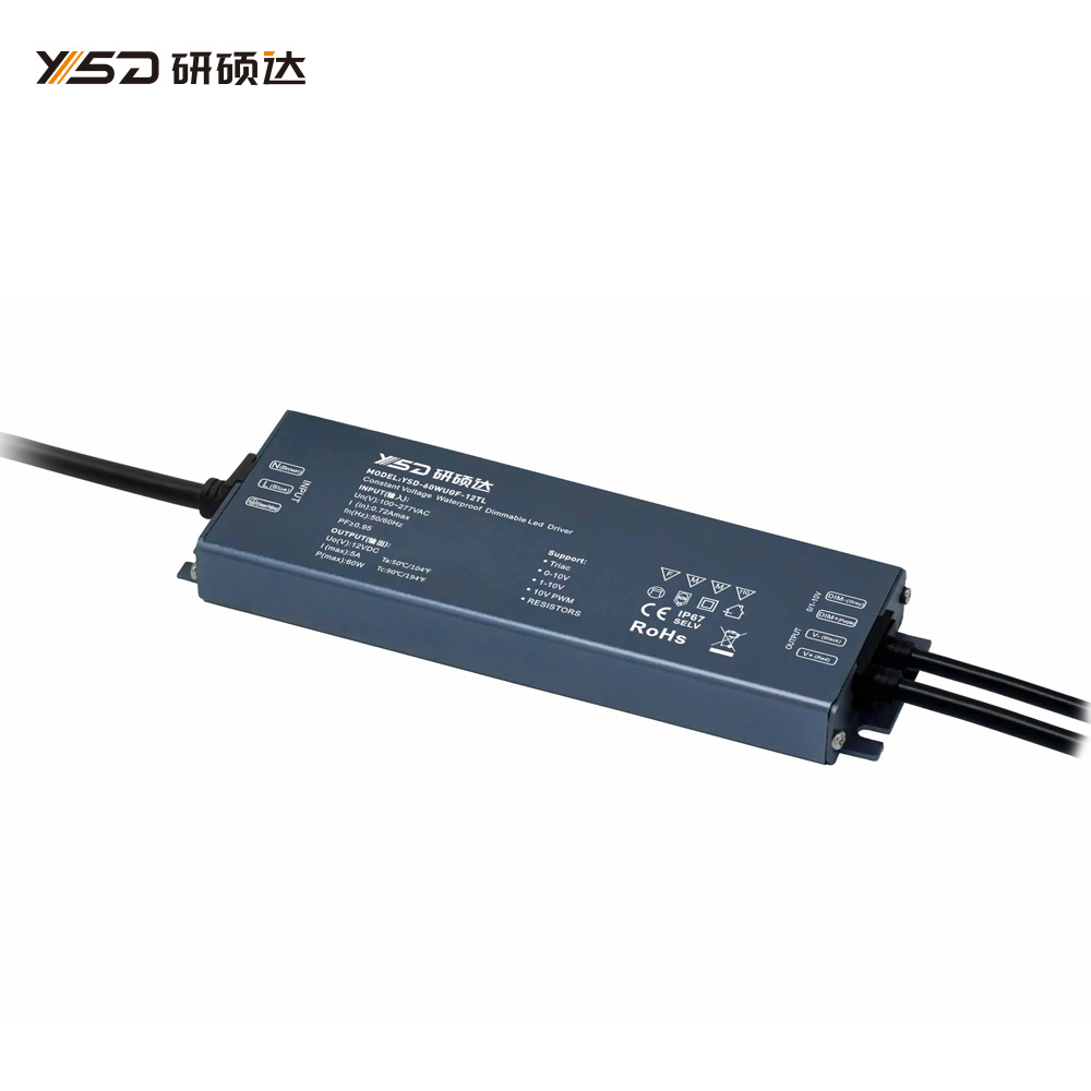 60W 12V/24V CV High-end Dimmable Waterproof LED power supply