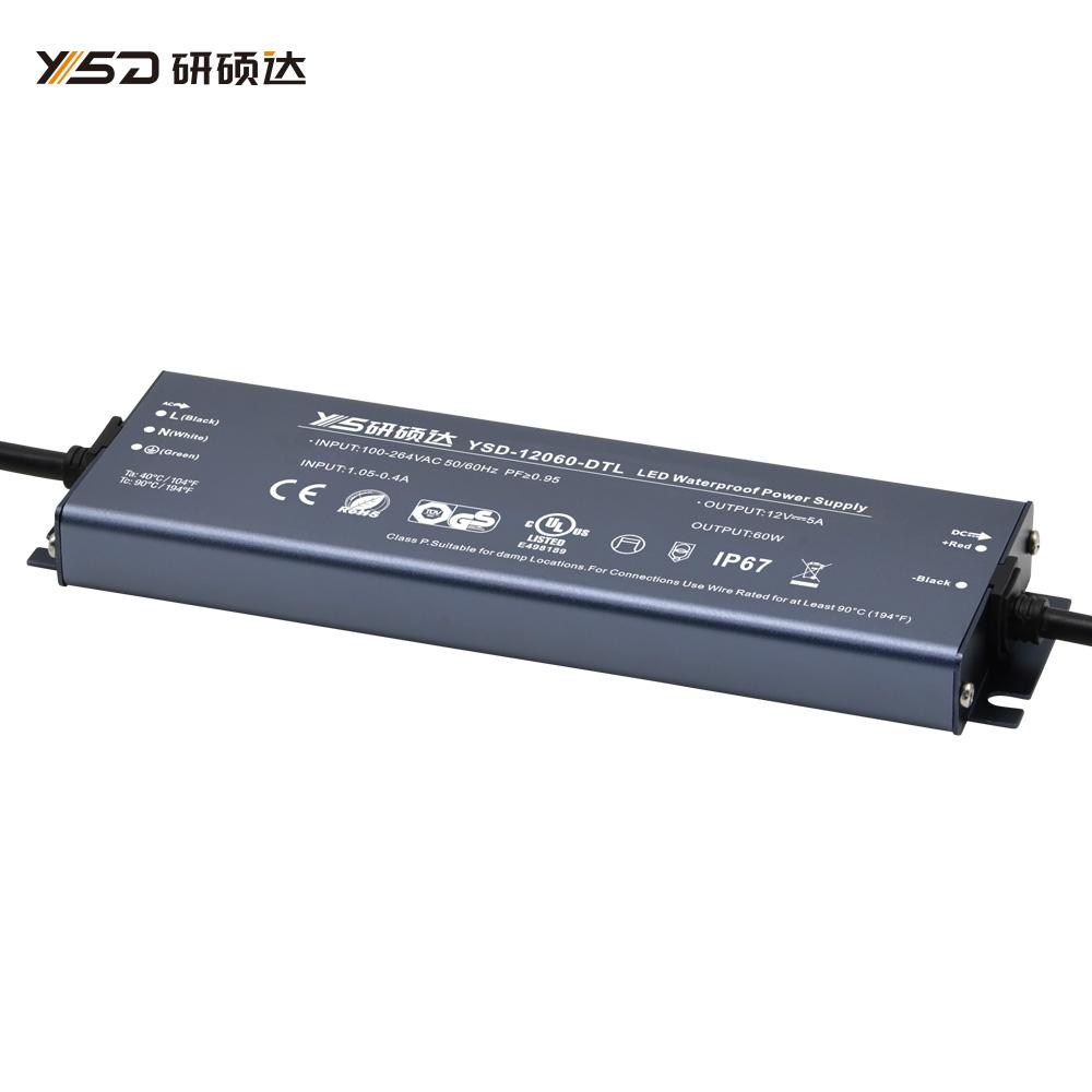 60W 12V/24V CV ultra-thin waterproof LED power supply YSD