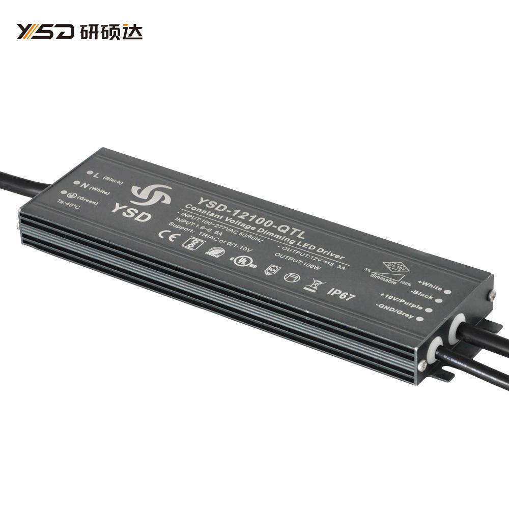 100W 12V/24V CV dimmable waterproof LED power supply