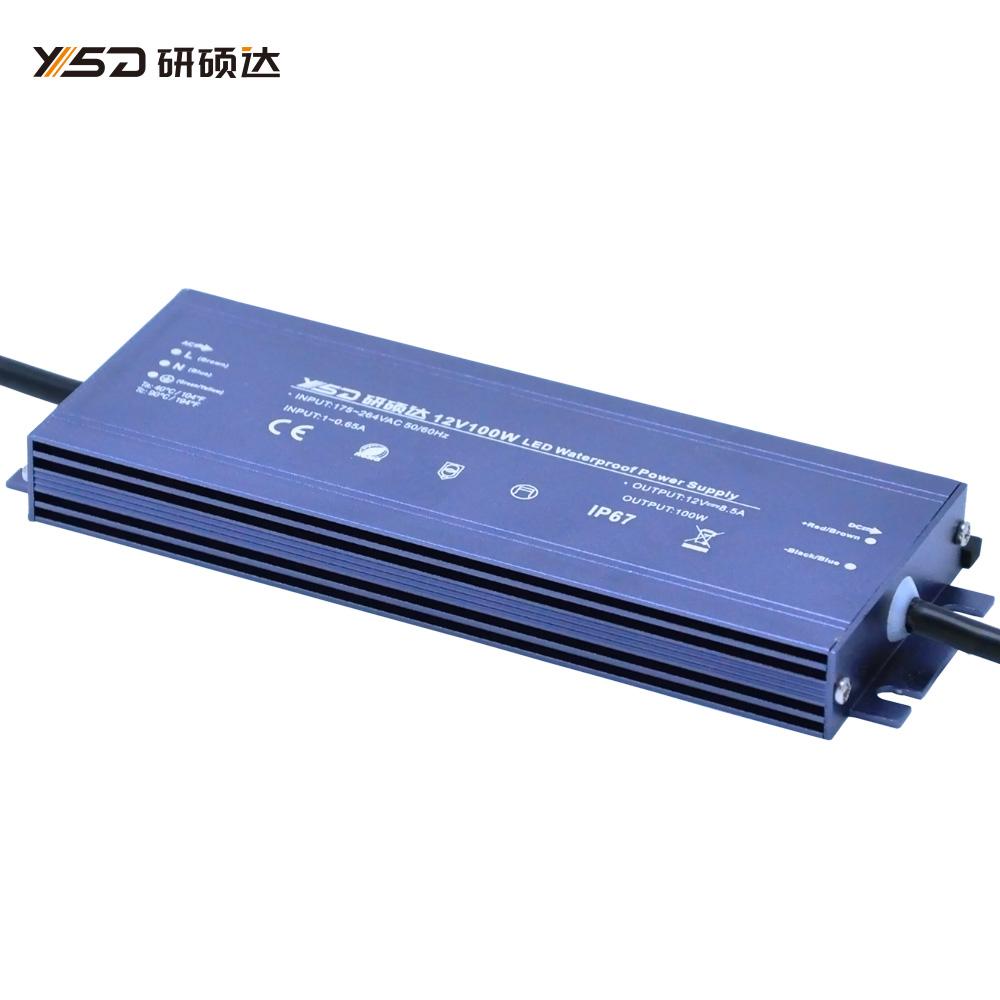 100W 12V/24V waterproof LED power supply/YSD